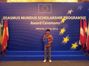 Erasmus mundus scholarship award ceremony.